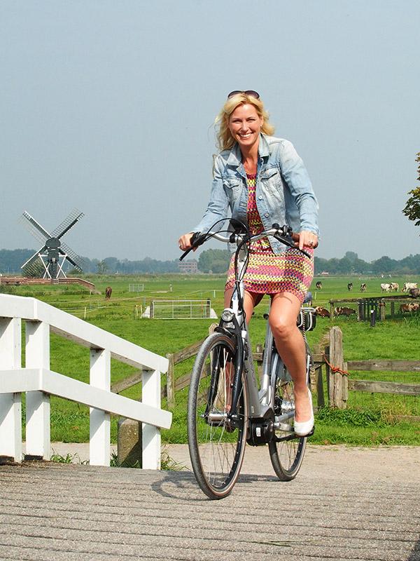 E-bikes zijn verkrijgbaar als toerfiets, stadsfiets, jeugdfiets, mountainbike, vouwfiets, duofiets en snorfiets (speed pedelec of speed e-bike). Ze maken het makkelijk om bij weer en wind te fietsen en veel grotere afstanden op één dag af te leggen.