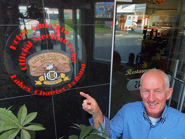 Dirk Klemkerk is een trotse Harley-rijder en gastheer van honderden Harley Davidson rijders uit de hele wereld.