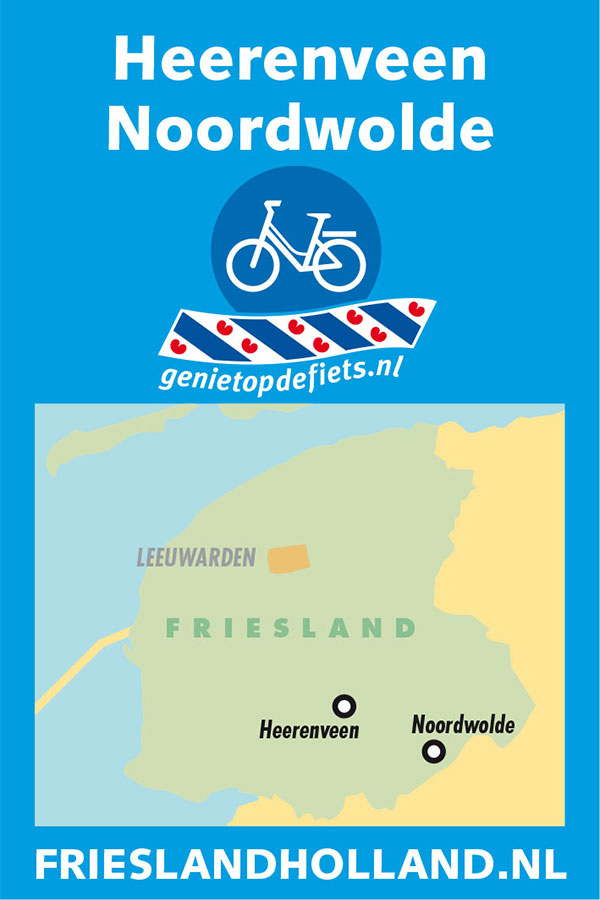 Pocket Cycle Map nummer 2: Heerenveen-Noordwolde.