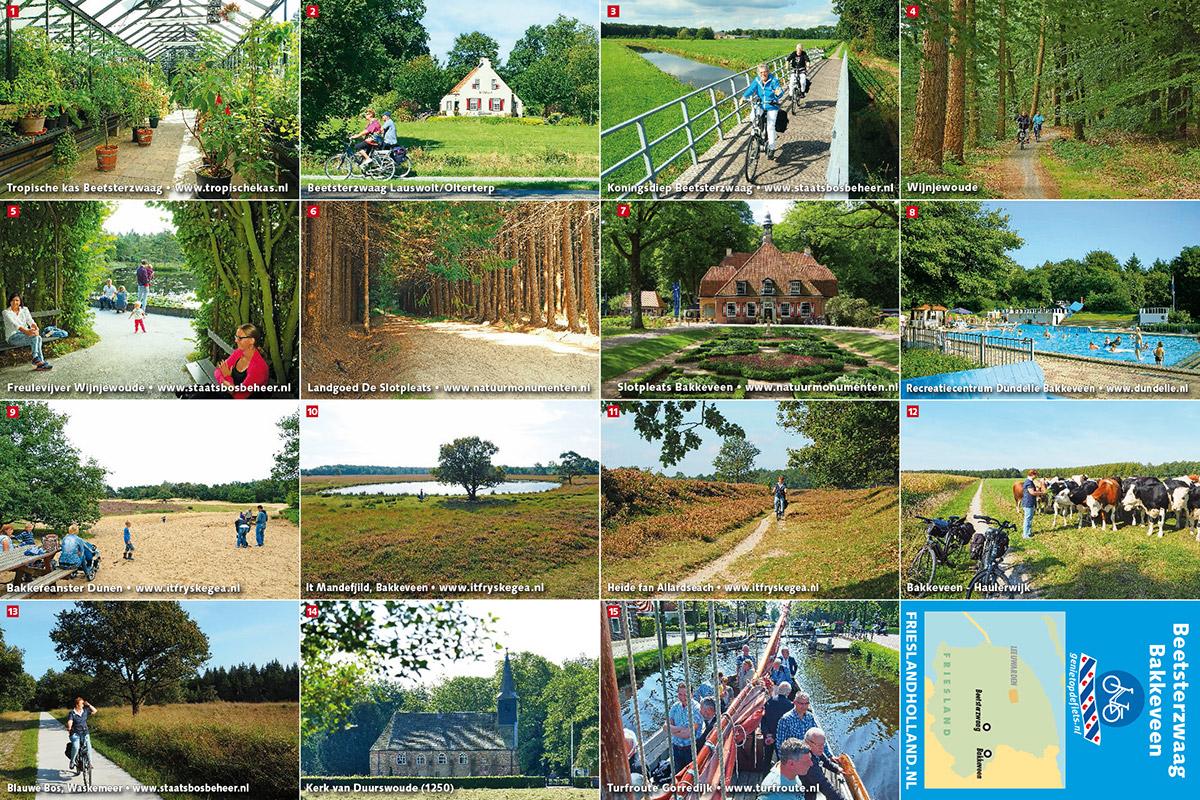 Het prototype van Pocket Cycle Map nummer 1: Beetsterzwaag-Bakkeveen. © Albert Hendriks - Friesland Holland Nieuwsdienst