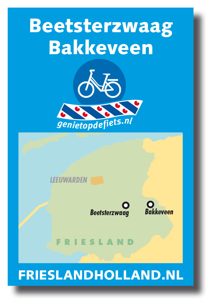 Het prototype van Pocket Cycle Map nummer 1: Beetsterzwaag-Bakkeveen.