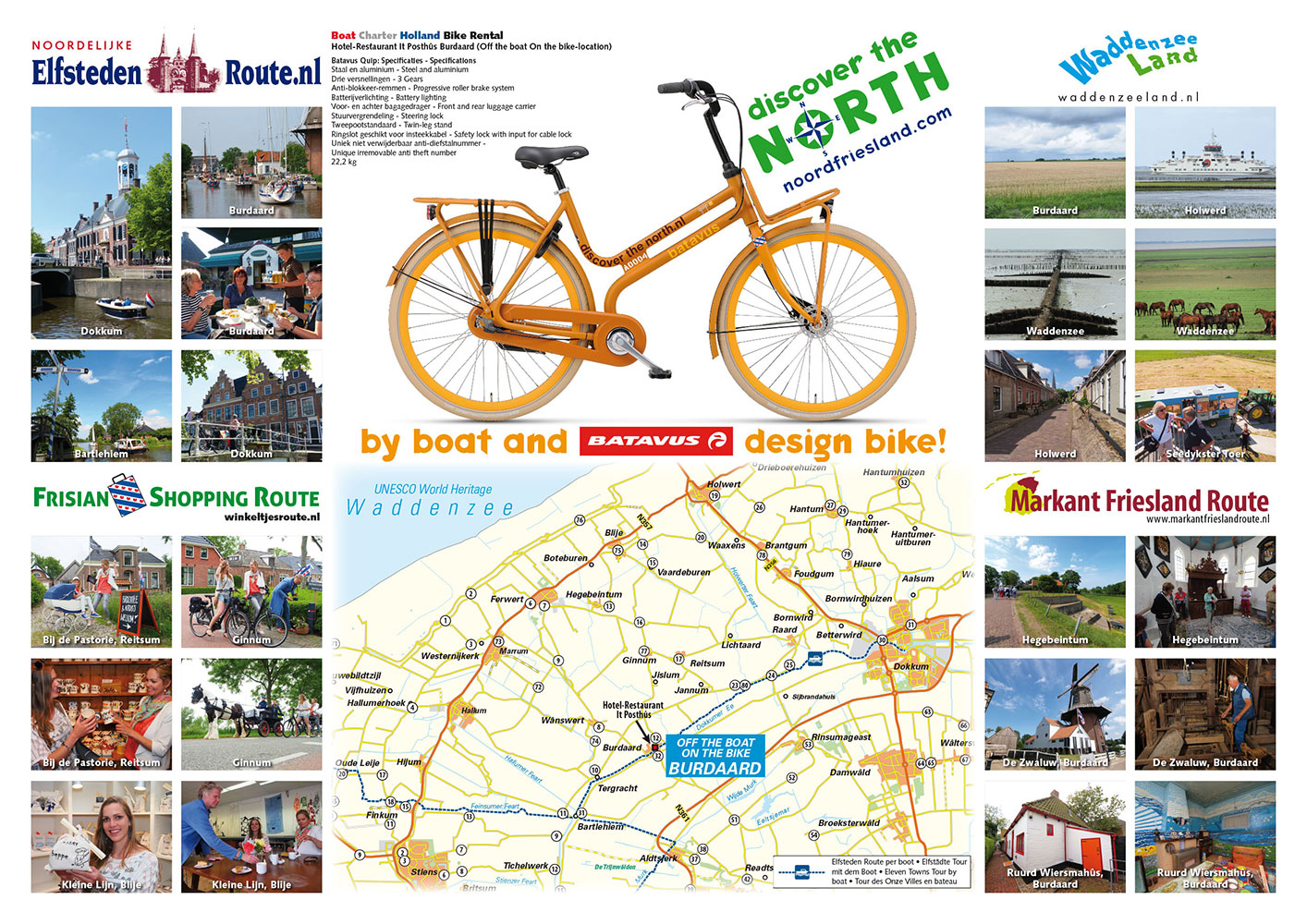 Advertentie van Discover the North voor watersportmagazines. Een vier routes overkoepelende website is in de maak.