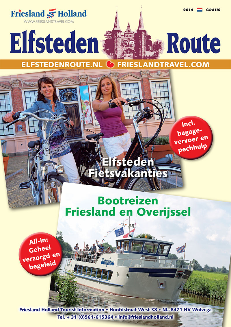 De nieuwe Nederlandstalige reisbrochure van Friesland Holland Travel gaat op tournee door Nederland en België.