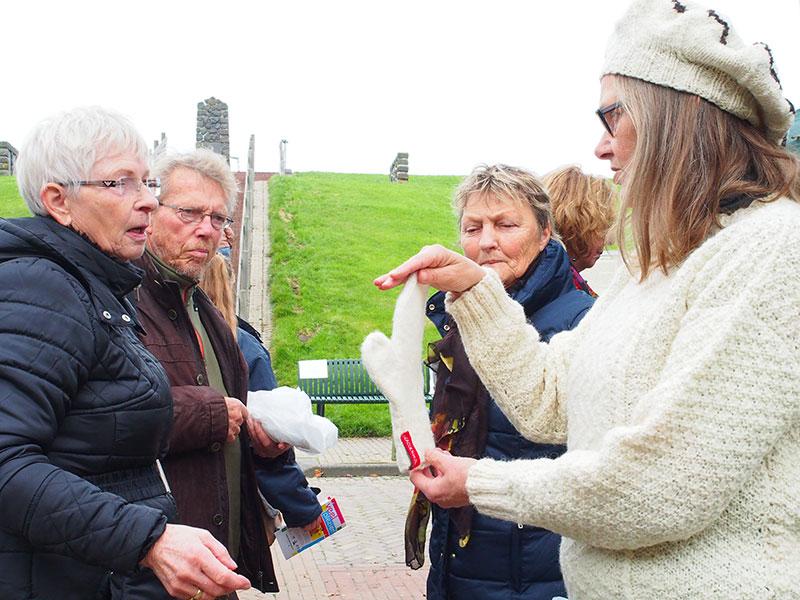 't Is niet niks, wol van Trix (de Waal). Info: www.waddenwol.eu