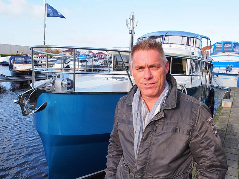 Directeur Mark Bakker van Aquanaut Yachting Holland bedient liefhebbers van Dutch Design met de Andante-serie.