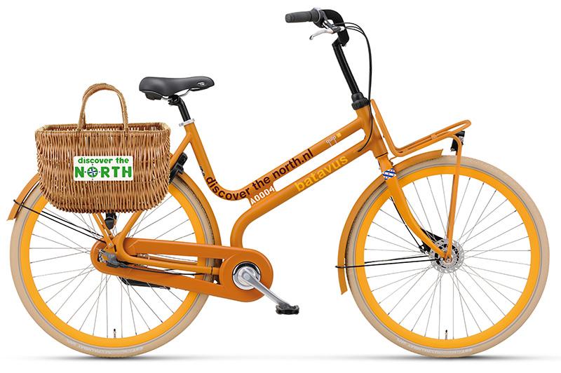 Het bureau voor toerisme Friesland Holland schafte deze speciaal uitgevoerde Batavus Quip's aan voor de inzet op Off the Boat On the Bike locaties.
