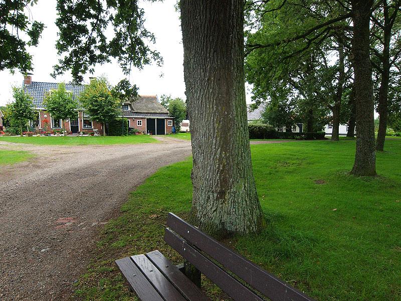 De Brink in Veenklooster. Veenklooster is één van de twee Friese brinkdorpen. Het andere is Oudemirdum in Gaasterland.