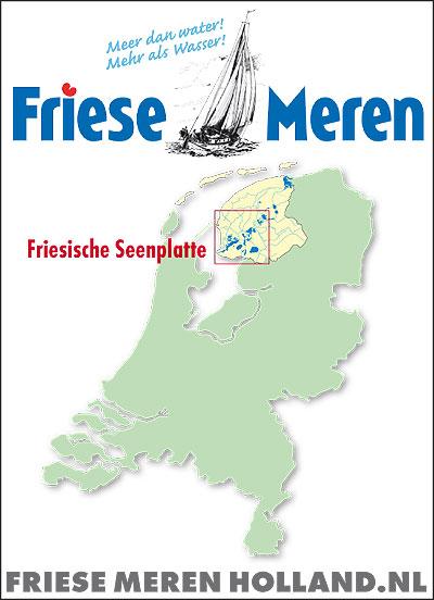 Zo kunnen buitenlanders in één oogopslag zien waar de Friese meren liggen.