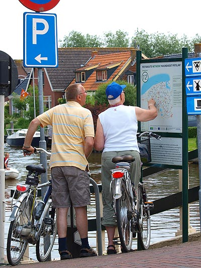 Friesland heeft één van de dichtste fietsknooppuntennetwerken van Nederland.