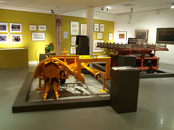 De expositie over Aber Gerlsma in het Fries Landbouwmuseum te Earnewâld.