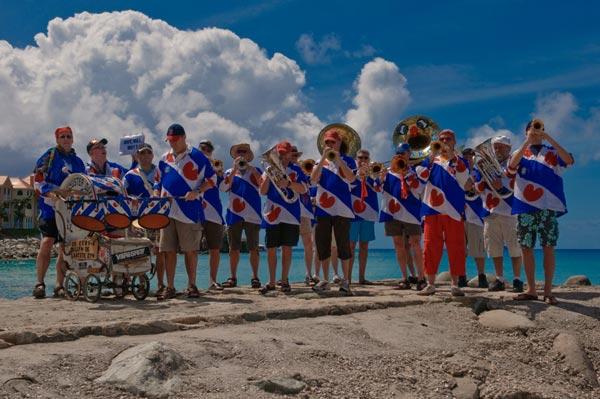 De Blauhúster Dakkapel op Sint Maarten.
