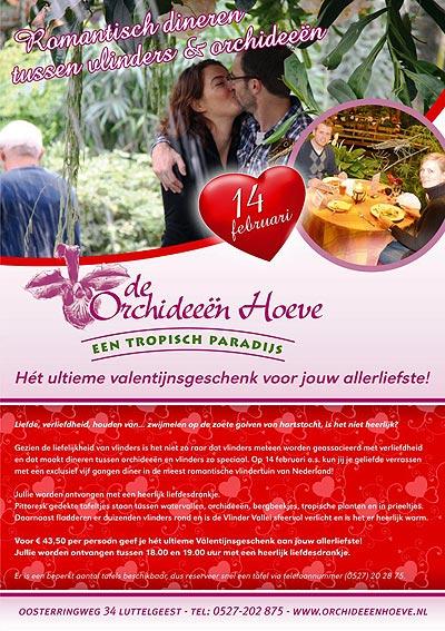 Valentijnsevent in de Vlinder Vallei van De Orchideeënhoeve.