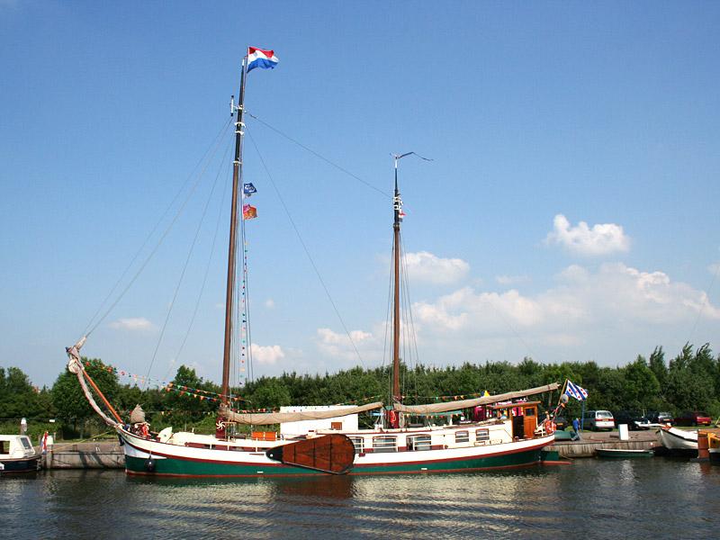 Klipper De Hoop van Friesland Charter. De Stella Frisia is identiek.