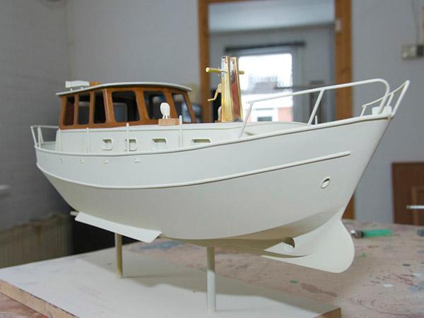 Het model in aanbouw.