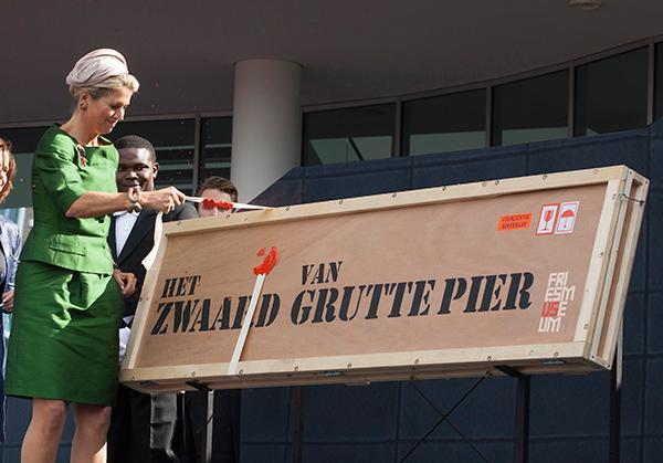 Koningin Máxima opent het Fries Museum (13 september 2013, foto Laurens Aaij).