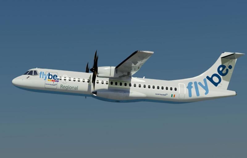 Een ATR 72 van Flybe.