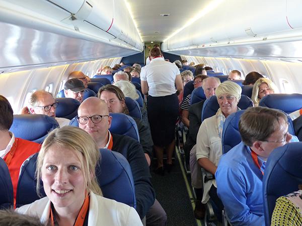 Verbazingwekkend veel ruimte in de ATR 72-500.