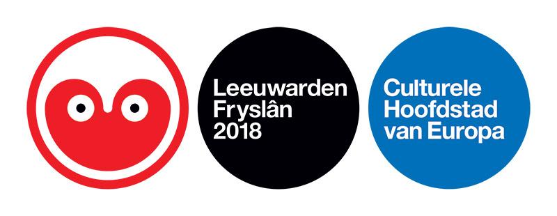 """Het officiële logo van de Stichting Kulturele Haadstêd 2018, """"haatstad"""", volgens Jan Jaap van der Wal."""