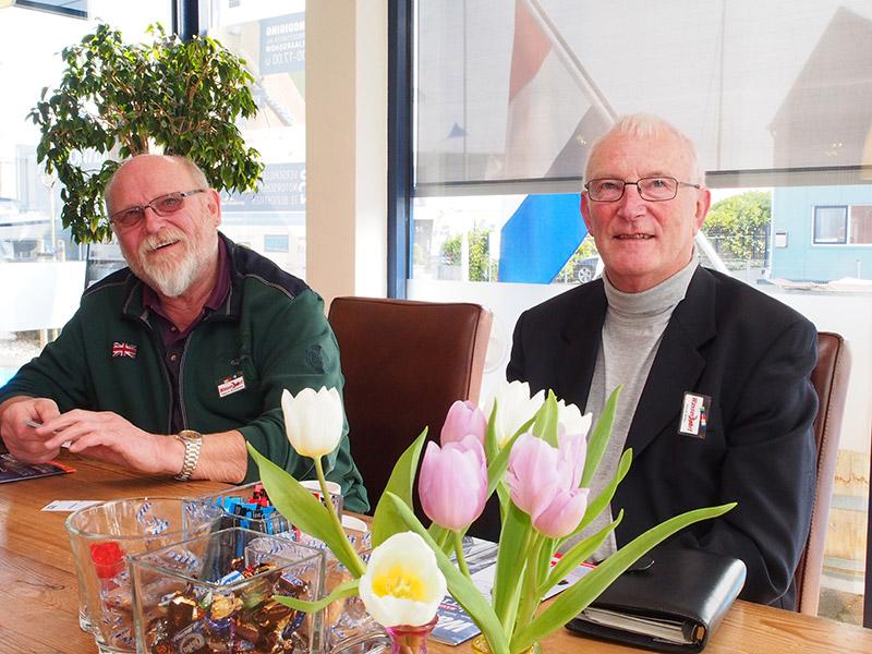 Claus D. Breitenfeld (links) en Horst Witte zijn fans van Friesland.
