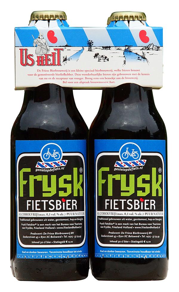 Frysk Fietsbier is een caloriearme, alcohol- en limonadevrije sportdrank.