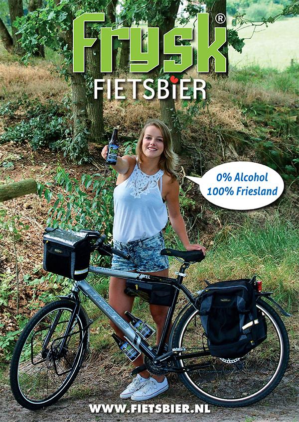 Advertentie voor Frysk Fietsbier.