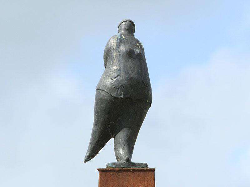 Elfstedenkunstroute: Van Hemerts Aukje in Hindeloopen.