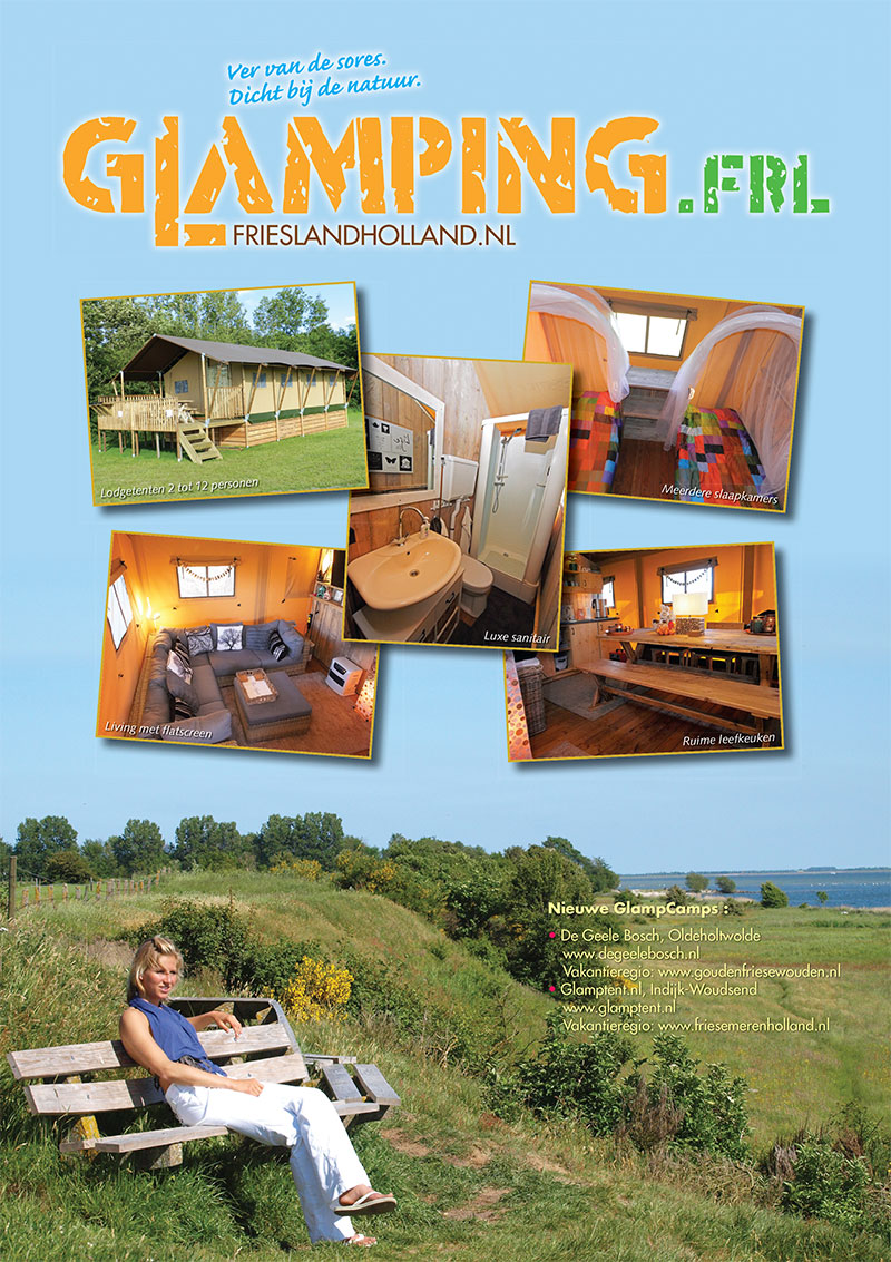 Paginagrote advertentie van Glamping.frl