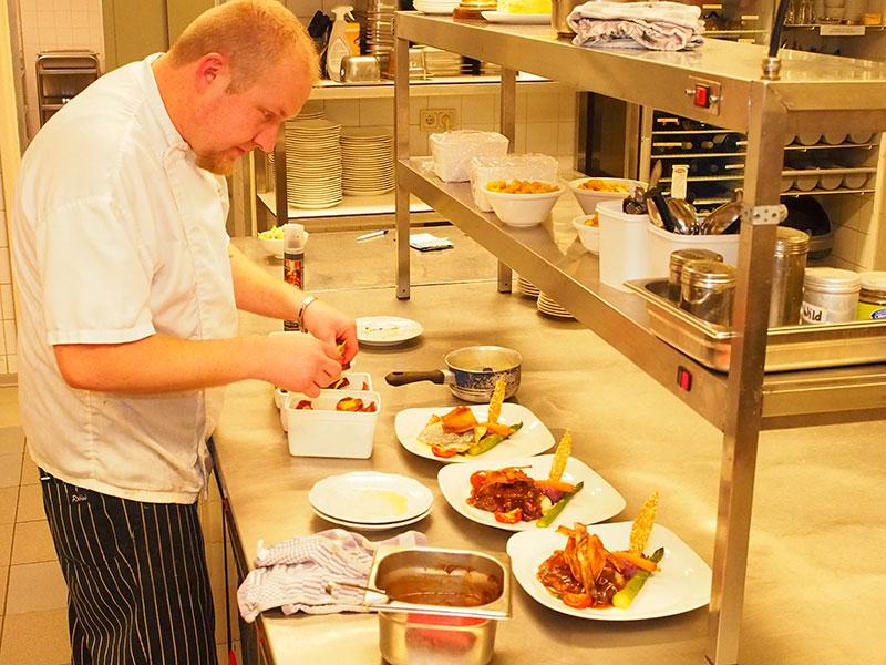 Een Frysk Diner 2016 in het met een Frysk Pompeblêd onderscheiden restaurant Jans in Rijs.