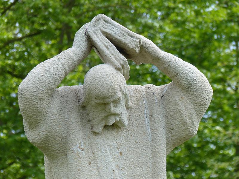 Standbeeld van Bonifatius. Foto: Friesland Holland Nieuwsdienst.