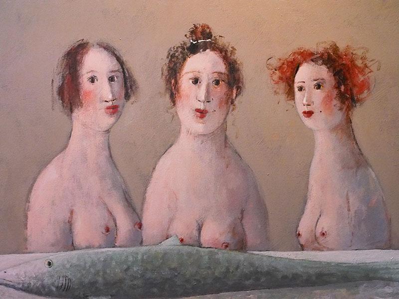 Enkele werken van Evert van Hemert in museum Stedhûs Sleat.