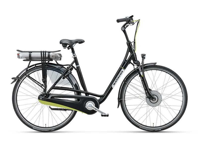 Veel fiets met hoogwaardige technologie voor relatief weinig geld, de Batavus Monaco E-go Ltd. Zeer comfortabele e-bike met stille voorwielmotor. Limited edition met acht versnellingen en een 400 Wh accu. €1.999,-.