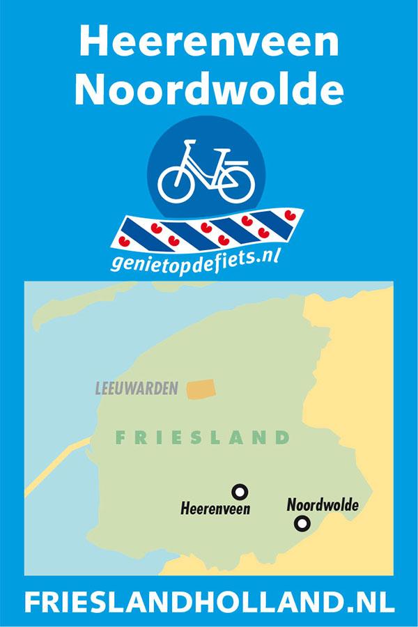 Pocket Cycle Map nummer 2: Heerenveen-Noordwolde.