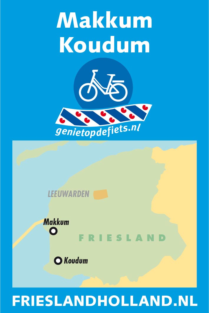 Pocket Cycle Map nummer 3: Makkum-Koudum.